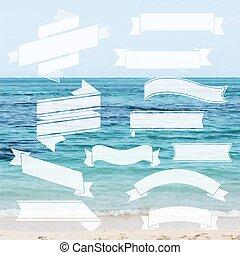 ensemble, ruban, mer