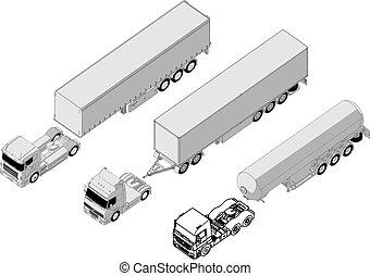 ensemble, semi-camion