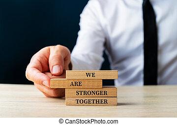 ensemble, signe, nous, plus fort