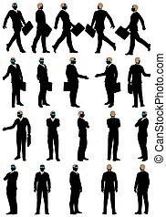 ensemble, silhouette, business