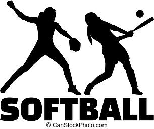ensemble, silhouette, softball