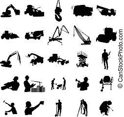 ensemble, simple, style, construction, silhouette