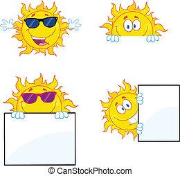 ensemble soleil, collection, caractères, 2