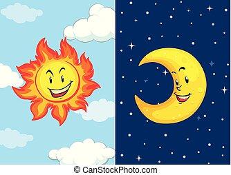 ensemble soleil, lune