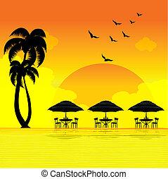 ensemble soleil, plage