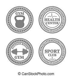 ensemble, sports, emblèmes