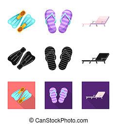 ensemble, stock., objet, symbole., isolé, activité, natation, bitmap, piscine, icône