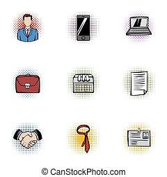 ensemble, style, business, pop-art, icônes