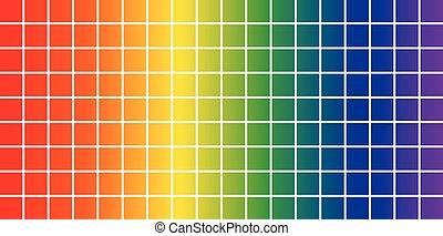 ensemble, swatches, couleur, -, illustration, guide