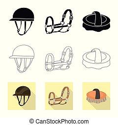 ensemble, symbole, objet, web., isolé, concurrence, ...