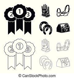 ensemble, symbole, web., illustration, équipement, vecteur, ...