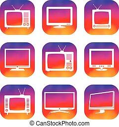 ensemble télé, icônes