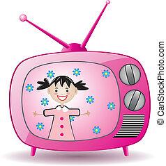ensemble télé, retro