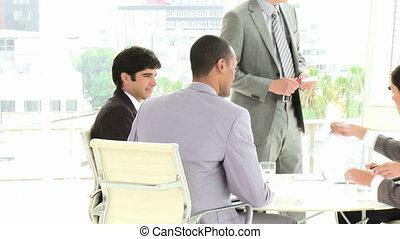 ensemble, t, fonctionnement, equipe affaires