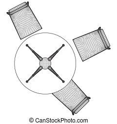 Ensemble Table Et Chaises Vecteur Image Csp together with  on ensemble table et chaises 6302850