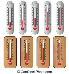 ensemble, thermometers.