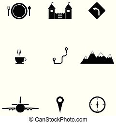 ensemble, tourisme, icône