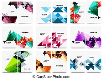 ensemble, triangle, business, annuel, brochure, aviateur, conception, a4, rapport, fond, gabarit