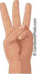 ensemble, trois, fournée, doigts