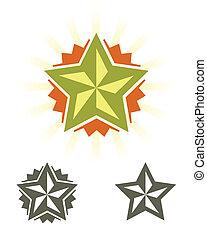 ensemble, vecteur, étoiles
