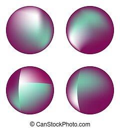 ensemble, vecteur, circles., holographic