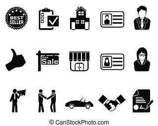 ensemble, ventes, icône