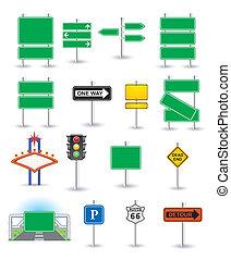 ensemble, vert, signes