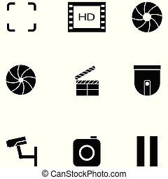 ensemble, vidéo, icône