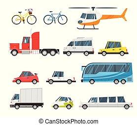 ensemble, ville, transport