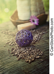 ensemble,  violet,  dayspa,  nature