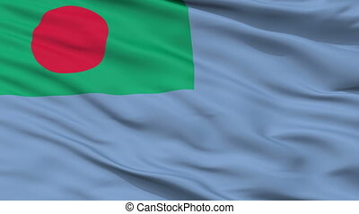 Ensign Of Bangladesh Coast Guard Flag Closeup Seamless Loop...