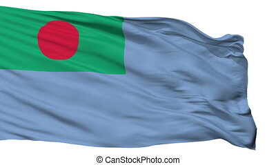 Ensign Of Bangladesh Coast Guard Flag Isolated Seamless Loop...