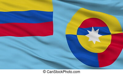 Ensign Of Colombian Air Force Flag Closeup Seamless Loop -...