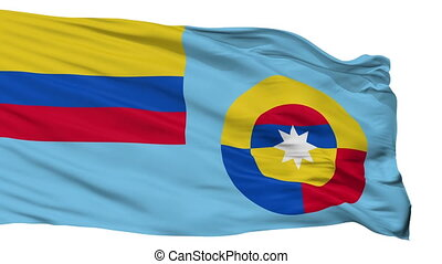 Ensign Of Colombian Air Force Flag Isolated Seamless Loop -...