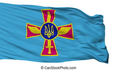 Ensign Of Ukrainian Air Force Flag Isolated Seamless Loop