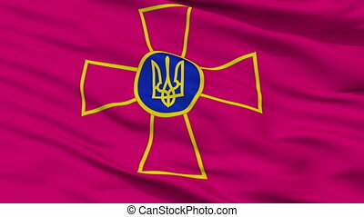 Ensign Of Ukrainian Armed Forces Flag Closeup Seamless Loop...