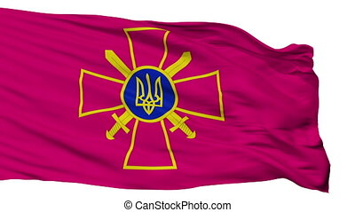 Ensign Of Ukrainian Ground Forces Flag Isolated Seamless...