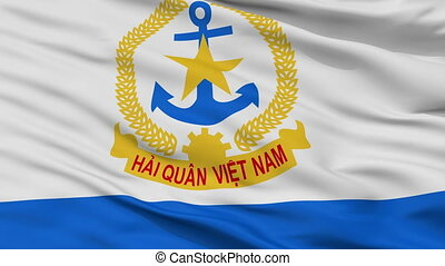 Ensign Of Vietnam Peoples Navy Flag Closeup Seamless Loop -...