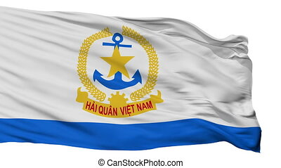 Ensign Of Vietnam Peoples Navy Flag Isolated Seamless Loop -...