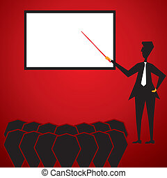 ensinando, homens, estudante