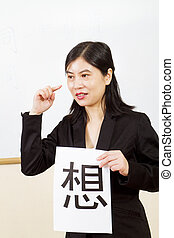 ensinando, professor, chinês