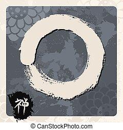 Enso zen circle illustration traditional - Enso Zen circle...