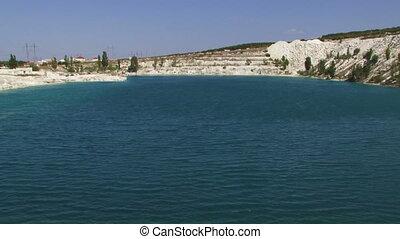 ensoleillé, lac, jour
