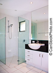 ensuite, salle bains, moderne