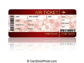 entablado, encima, aislado, navidad, línea aérea, pase, ...