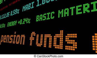 entaille, fonds, continuer, pension, royaume-uni, équité, ticker, investissements, stockage
