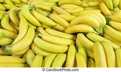 entassé, lotissements, bananes, haut, mûre