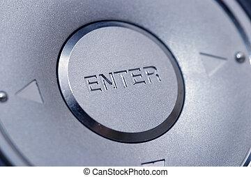Enter - A big silver enter button