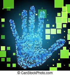 Enter Access Code using the fingerprint. Eps 10. Used effect...