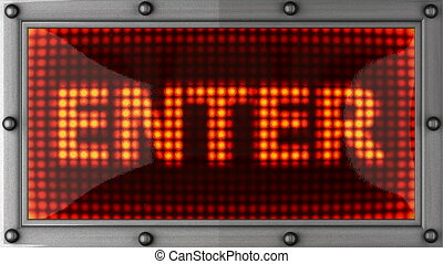 enter announcement on the LED display